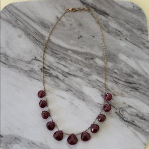Beautiful Garnet Briolette Necklace 16.5""
